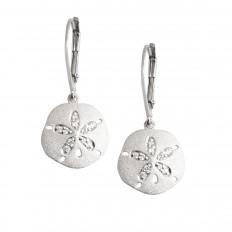 New Denny Wong 0.14 CTW White Sapphire Sand Dollar Earrings