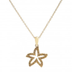 New Denny Wong 0.33 CTW Yellow Sapphire Sea Star Necklace