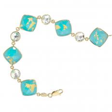 New Denny Wong Turquoise Island Bracelet