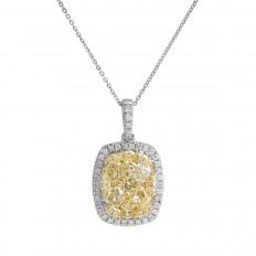Vintage 1.39 CTW Diamond Cluster Pendant