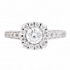 Vintage 1.16 CTW Diamond Halo Engagement Ring