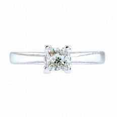 Vintage 0.55 CT Diamond Engagement Ring