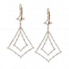 Vintage 1.63 CTW Diamond Drop Earrings