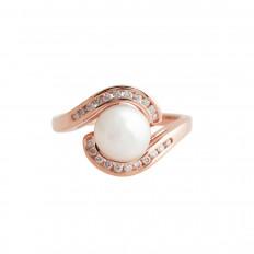 Vintage 0.22 CTW Diamond & Pearl Ring