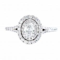Vintage Neil Lane 1.00 CTW Diamond Double Halo Engagement Ring