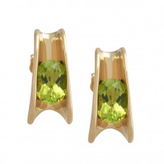 Vintage 1.80 CTW Peridot Earrings
