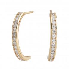 Vintage 0.64 CTW Diamond Hoop Earrings