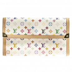 Vintage Louis Vuitton Multi-color Monogram Porte Tresor Wallet