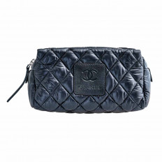 Vintage Chanel Quilted Cosmetic Bag