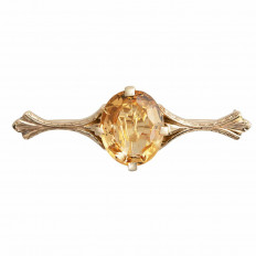 Vintage 4.88 CT Citrine Pin