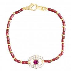 Vintage 1.00 CTW Sapphire, Garnet & Diamond Bracelet
