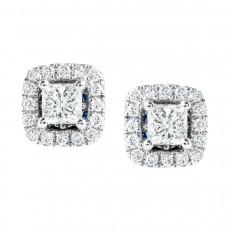 Vintage Vera Wang 0.50 CTW Diamond Halo Stud Earrings
