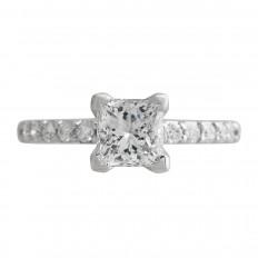 Vintage A. Jaffe 0.98 CTW Diamond Engagement Ring