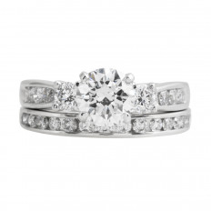 Vintage 2.62 CTW Diamond Wedding Set