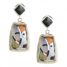 Vintage Native American Mother-of-Pearl Drop Earrings