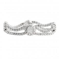 Vintage John Hardy 1.00 CTW Diamond Kali Pure Lava Bracelet