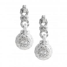 Vintage John Hardy 0.58 CTW Diamond Drop Earrings