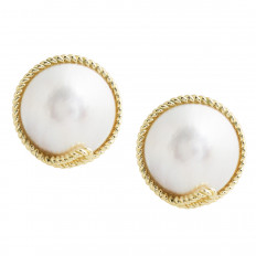 Vintage Tiffany & Co. Mabe Pearl Earrings