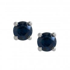 New 0.52 CTW Blue Sapphire Stud Earrings