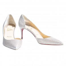 Like-New Christian Louboutin Glitter Iriza Heels