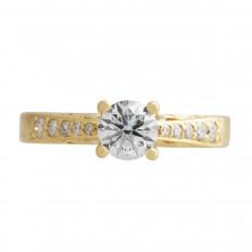 Vintage Na Hoku 0.85 CTW Diamond Engagement Ring