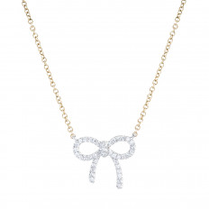 New Venetti 0.10 CTW Diamond Bow Necklace