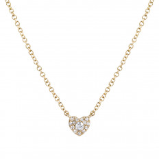 New Venetti 0.08 CTW Diamond Heart Necklace
