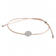 New Venetti 0.14 CTW Diamond Disc Cord Bracelet