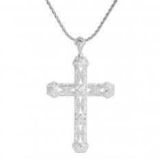 New 1.10 CTW Diamond Cross Pendant