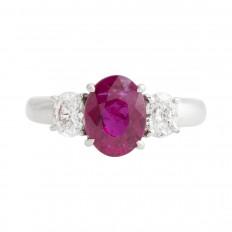 New 3.36 CTW Ruby & Diamond Ring