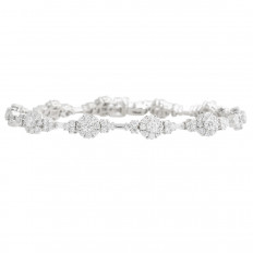 New 6.80 CTW Diamond Halo Bracelet