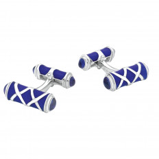 New Deakin & Francis Blue Enamel Cufflinks