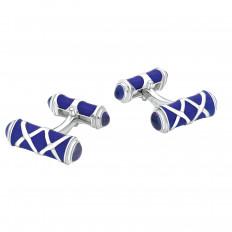 New Deakin & Francis Blue Enamel Cufflinks