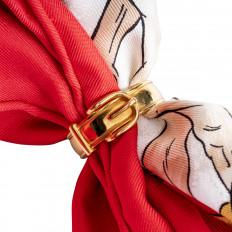 Vintage Hermès Buckle Scarf Ring